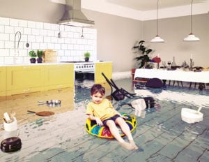 flood damage covered with homeowners insurance in o'fallon illinois?